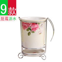 Bone china chopsticks tube jingdezhen ceramic chopsticks rack chopsticks box drain rack 12