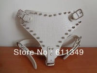 NEW Free Shipping Pet Products Large Dog Spiked Harnesses Leather Collars for Bully Husky Pit bull Terrier Boxer White 65-85CM