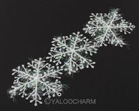15pcs White Plastic Christmas Large Snowflake Sheet Ornament Merry Xmas Decoration 62507