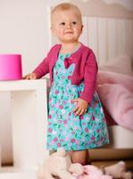 Wholesale fashion kids casual clothing set  female child autumn lovely baby girls rose red coat + flower blue dresses 2pcs set