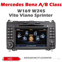Car DVD for BENZ Mercedes A W169 B W245 Vito Viano Sprinter with1G CPU 3G Host S100 Support DVR wifi audio video Free shipping