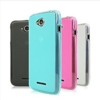 Free Shipping ( 20pcs/lot ) TPU Matte soft case for Lenovo A670T case cover