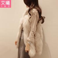2013 new winter women fox fur coat fur overcoat medium-long fur