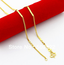 jP086 2013 New Unique Solid Uinsex 24K Gold Plated Necklace Marriage Accessories High Quality Plated Gold
