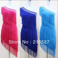 2013 Latin Dance Costume Oblique Tassel Diamond Decorated Plus Size Clothing Latin Skirt 1PCS Free Shipping
