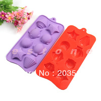 Silicone Shell Fish Muffin Cake Baking Mold Chocolate Mould DIY Tool
