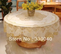 High-grade round Pvc plastic table cloth tablecloth waterproof and oil heat without washing table linen banquet table covers