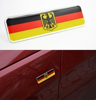 2PCS Limited Germany Flag Badge Emblem FIT MK6 GOLF GTI CC Jetta SCIROCCO POLO R