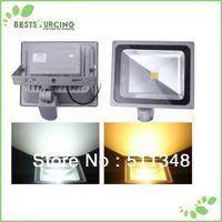 free shipping 1pcs 50W PIR Floodlight Motion detective Sensor LED Flood light Outdoor Floodlight Cool/ Warm White 110-220V