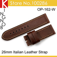 Hand Craft 26mm Watchbands Genuine Leather Watch Band Strap Pre V Buckle For Panerai PAM 47mm