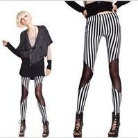 2014 Brand Sexy Stripe Women Leggings Brand American Apparel for Women