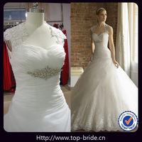 Lv022 Romantic Lace Backless Crystal Bridal Gown