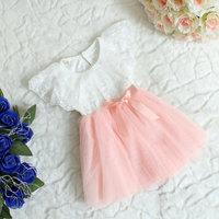 2013 summer new children's clothing collar lace  vest  girls dress 41111