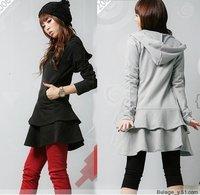 2014 big size autumn clothing women's one-piece dress outerwear a7 plus size women outwear XXXL XXXXL XXXXXL BUST120