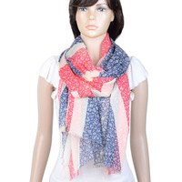 women shawl scarf with flag design,NL-2121