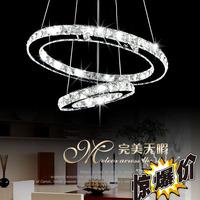 Modern brief crystal lamp bedroom lamp restaurant lamp living room pendant light led crystal lamp fashion