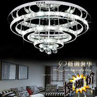 free shipping Modern crystal ceiling lamp luxury living room lights led bedroom lights circle lighting bedroom lamps