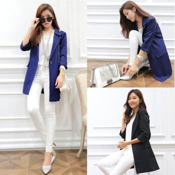2013 autumn loose women's suit autumn coat blazer outerwear long design