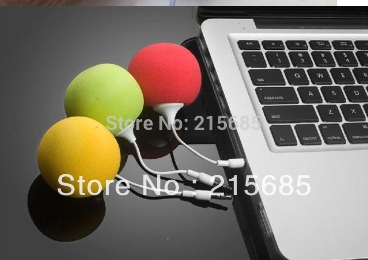 Fashion Hotsell Multi-Color Creative Mini Music Balloon Speaker Cute Music Ball for MP3 MP4 Cell Phone ipod nano(China (Mainland))