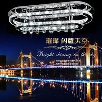 free shipping Oval qiqi 's crystal pendant light living room lights brief hall lights crystal bedroom lamps lighting
