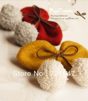Min.Order $15(Mix order) Free shipping.Korean Style Boutique VIVI cherry rabbit hair bow Gris Hair Clip.13*5cm.