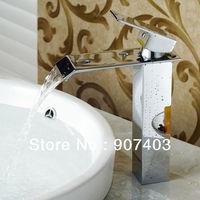 Free ems shipping 5 years guarantee brass hansgrohe single handle waterfall sink faucet
