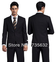 2013 Custom Fashion Free shipping new arrival Black Elegant suits for wedding business men Groom Wear A173