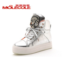 Autumn new arrival 2013 platform women's shoes single shoes flat heel platform skull high-top shoes