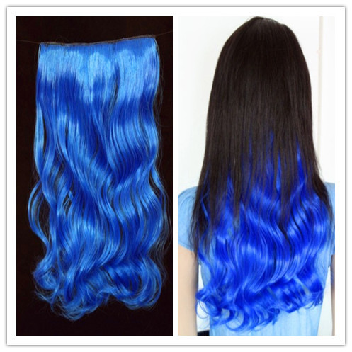 Blue Hair Extension Clips 91