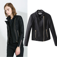 women's leather jackets 2013 new autumn brand design fashion motorcycle casual coats for women zipper Plaid free shipping Z186