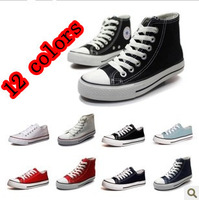 Free shipping.On sale!!! 12 colors Low and High unisex Classic canvas shoes.Women and men's sneakers causal shoes.Lover's shoes