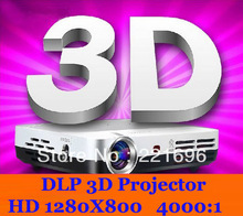 Fast Shipping! DLP Led Mirco 3D Projector Convert 2D Movie To 3D Amazing Display Effect Beamer Proyector Contrast Ratio 4000:1(China (Mainland))