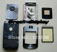 15pcs,Full faceplates mobile phone housing for motorola v3i cover case+ keypad cell phone,free shipping