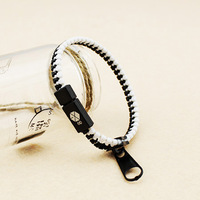 Sample order Fashion 2013New arrival Accessories sign of exo kris zipper bracelet Free shipping F0056