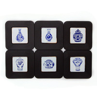 Coasters blue and white porcelain a chinese style unique small gifts business gift