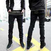 new 2014 spring men's clothing male denim trousers slim skinny brand jeans  skinny Pencil pants male fashion a*mani jeans osklen
