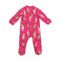 PROMOTION Carter's fleece footed romper,baby girl long sleeve one-piece Jumpsuit/overall,newborn clothes,size 3M 6M 9M 12M