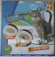 Free shipping Cat Toilet Training Kit (1 small &1 large) Fit All Toilets No More Litter Catnip Bonus, Educational Repellents