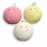 3 PCS * 10cm Super Squishy Jumbo Marshmallow Buns * Pink* Yellow *White* breads Bag Pendants, Free Shipping Retail FFC070