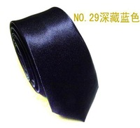 Neutral  adult fashion quality tie deep blue color