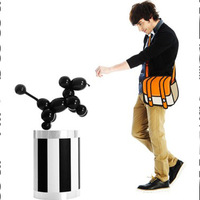 The 3D Cartoon Bag,2D bag Cartoon bag Handbag Day Clutches shoulder bag Free shipping 3d handbag