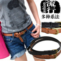Hot-Sale Products!!! Fashion!!!Free Shipping!!! Strap tieclasps women's all-match personality jeans thin belt waist decoration