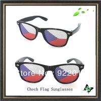 Chech Flag sunglasses plastic sunglasses LOGO sunglasses Removable stickerasses sungl Promotional sunglasses