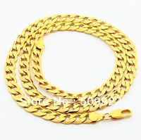 jP0101 Factory Direct Price Men Gold Jewelry Necklace 24K Gold Plated Men's Solid Chain Necklace Lead/Nickel Free Jewelry