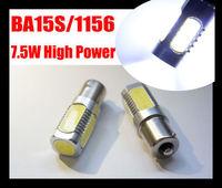 FreeShipping White 1156 7.5W high powered 1156(BA15S Or BAU15S) / 1157(BAY15D or BA15D) led reversing Car bulb