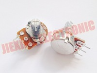 Free shipping 100PCS /LOT B100K 100K 100KR 100K OHM 15mm 3pin WH148 Linear Taper Rotary Potentiometer Pot