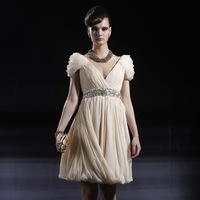 Modest prom dresses with sleeves For sale,   2013 bridesmaid dress bag 80901