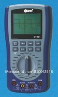 Free shipping EONE ET201 cheapest oscilloscope with good quality, lcd disolay,handheld oscilloscope 200ksps
