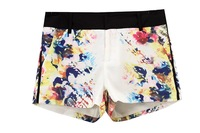 Women's 2013 summer fashion tie-dyeing lily print color block decoration casual pants hemp shorts