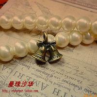 Zakka antique diy handmade accessories material 16 16mm vintage christmas bell pendant